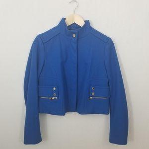 Carlisle Funnel Neck Blue Wool Jacket Sz 4
